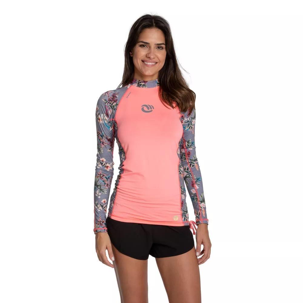 1f11fb7fd camiseta top solar 500 manga longa rosa. Carregando zoom.