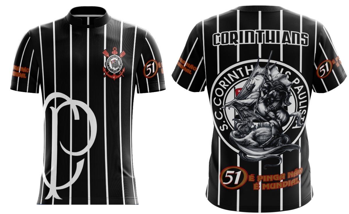 4bf3bedcf9141e Camiseta Torcida Corinthians /timão/ 51 Preta - R$ 45,00 em Mercado ...