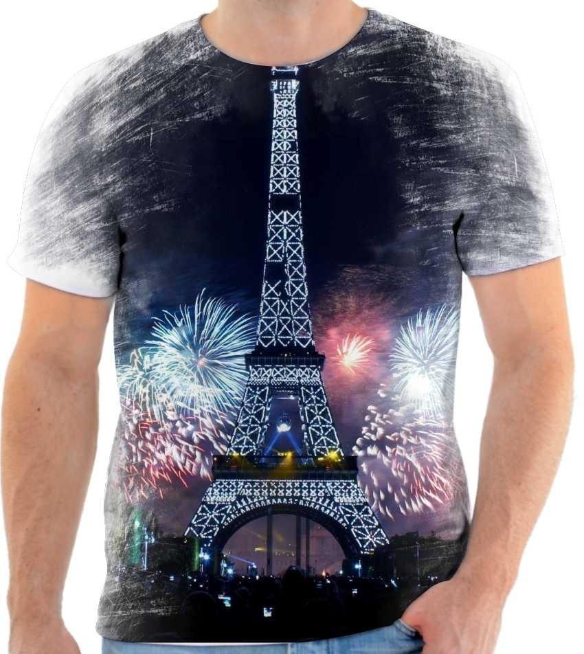 ce674ceee2 camiseta torre eiffel estampada frança personalizada 2. Carregando zoom.