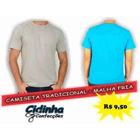 Camiseta Tradicional - 100% Algodão