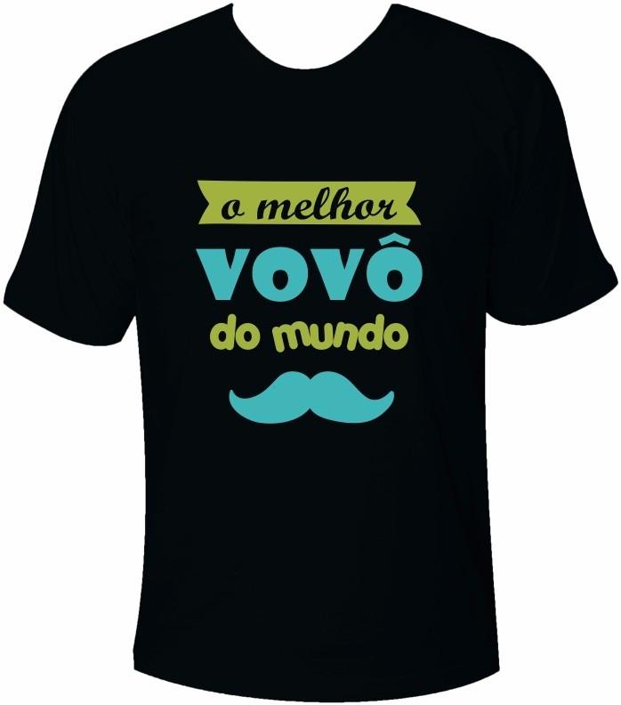 041e0c9df2a20 Camiseta Tradicional Blusa O Melhor Vovô Do Mundo Vô - R  61
