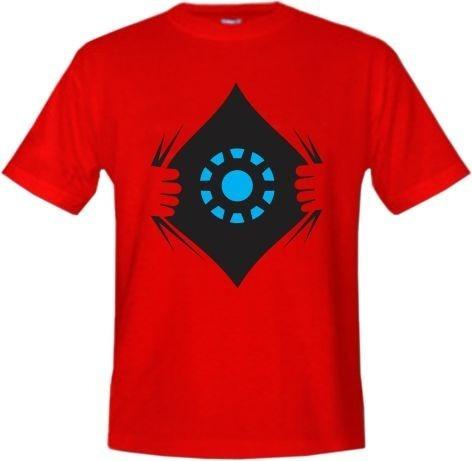 camiseta tradicional - homem de ferro