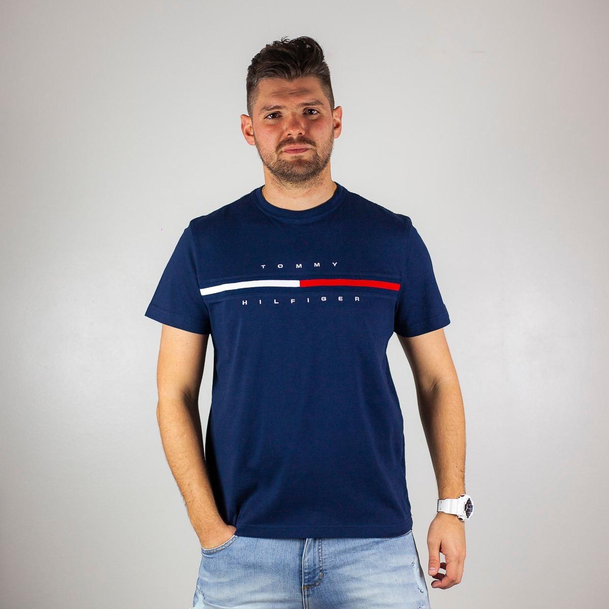 camiseta tradicional tommy hilfiger - tam  g. Carregando zoom. 0c7f2e54a41c8