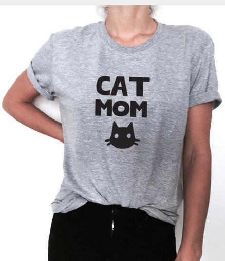 Camiseta Tradicional Tshirt Algodão Cat Mom Mãe Gato Tumblr - R  35 ... e5743cc71e1
