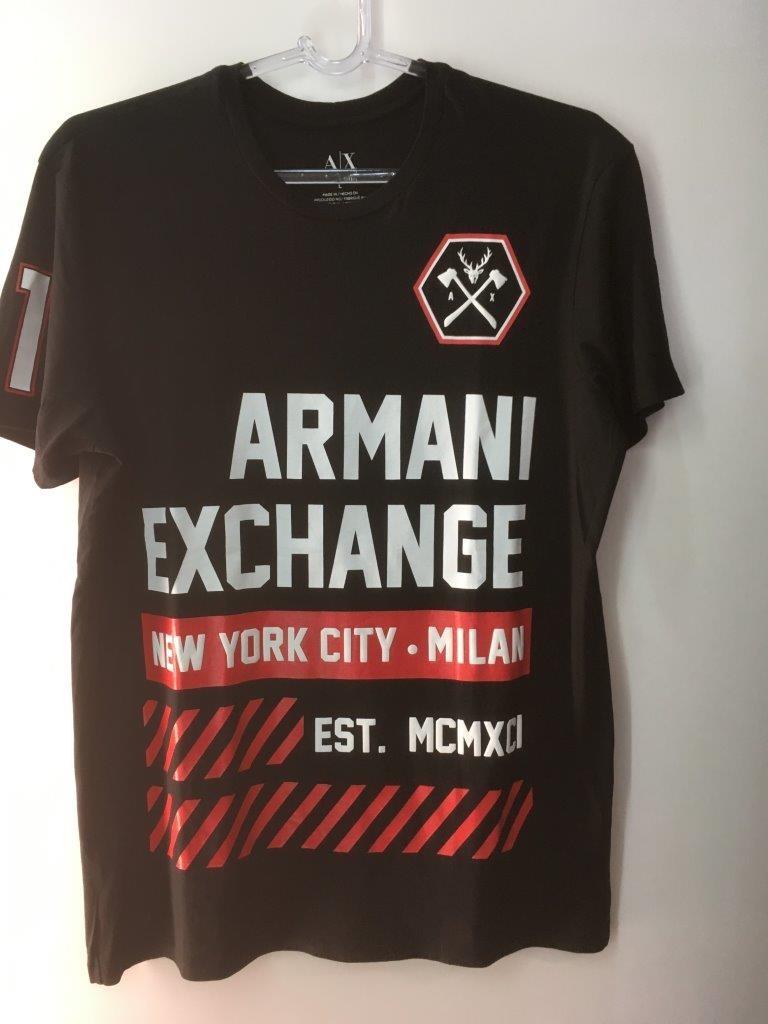 56ac5052dd924 camiseta tshirt armani exchange masculina original preta l g. Carregando  zoom.