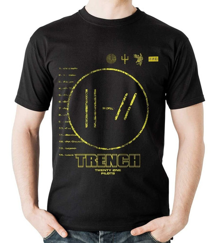 camiseta twenty one pilots trench rock activity