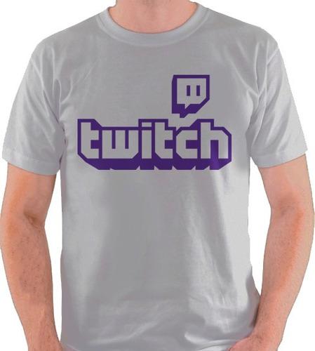 camiseta twitch internet site cinza branca camisa blusa