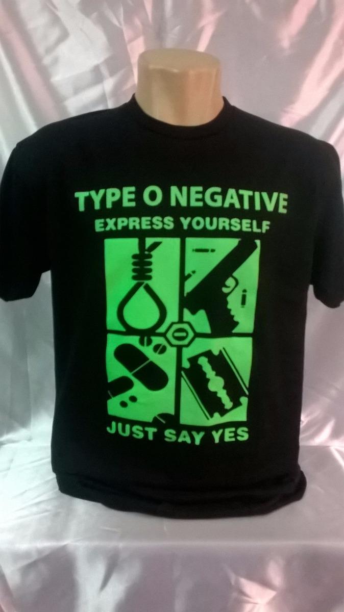 7a144919e camiseta type o negative express yourself. Carregando zoom.