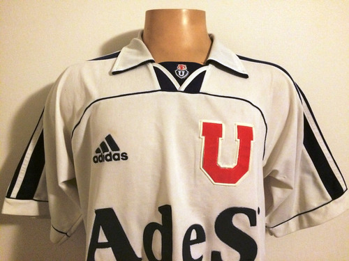 camiseta u de chile 1999 adidas, talla l, #10 rodríguez