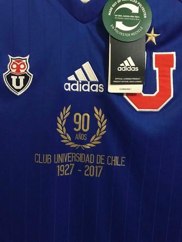camiseta u de chile conmemorativa 90 años 100% original