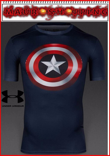 camiseta under armour batman capitan america superman marvel