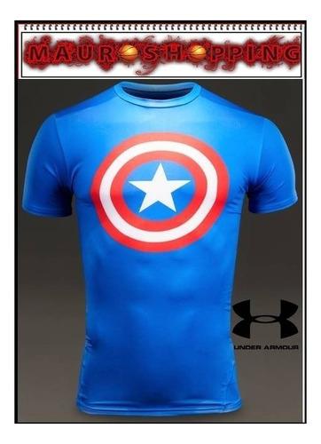camiseta under armour capitan america batman superheroes