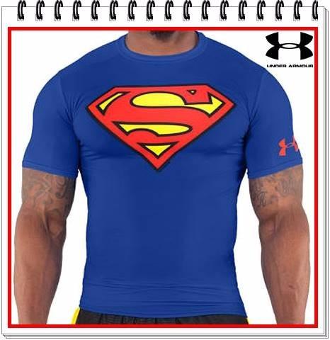 camiseta under armour superman compresion capitan america