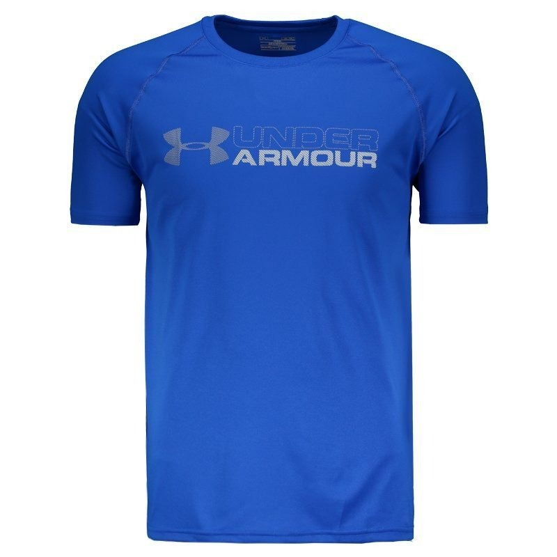 842abf3f4f5 camiseta under armour tech wordmark brasil royal. Carregando zoom.