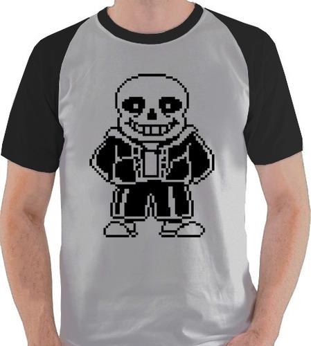 camiseta undertale sans jogo game camisa blusa raglan