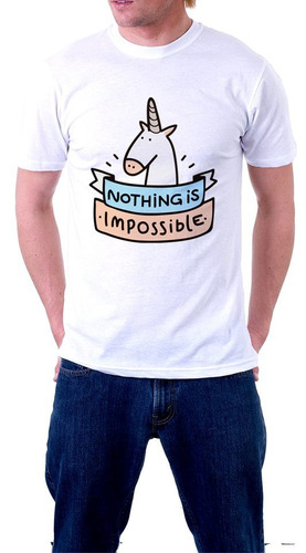 camiseta unicorn nothing is impossible unicornio camisa