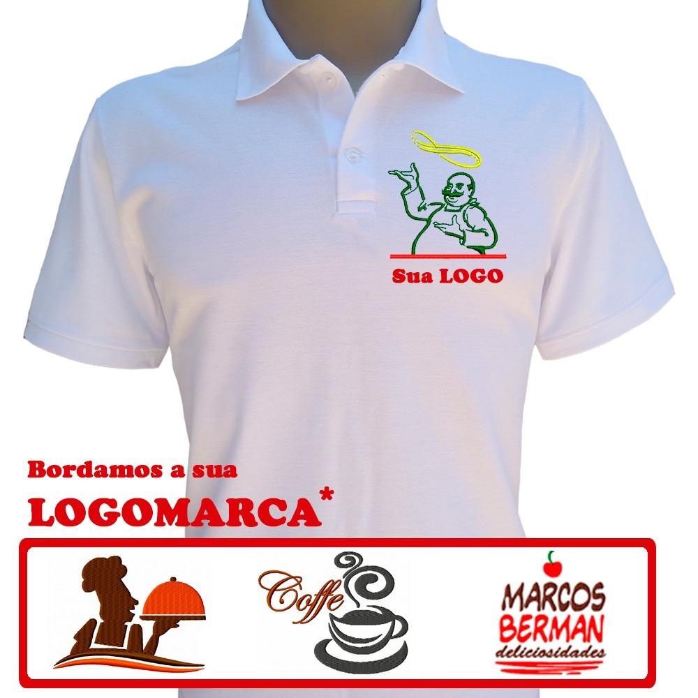 camiseta uniforme empresa e comercio bordada personalizada. Carregando zoom. 2fa9806a82d04