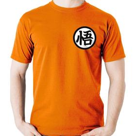 Camiseta Uniforme Goku Dragon Ball Z Super Camisa Blusa