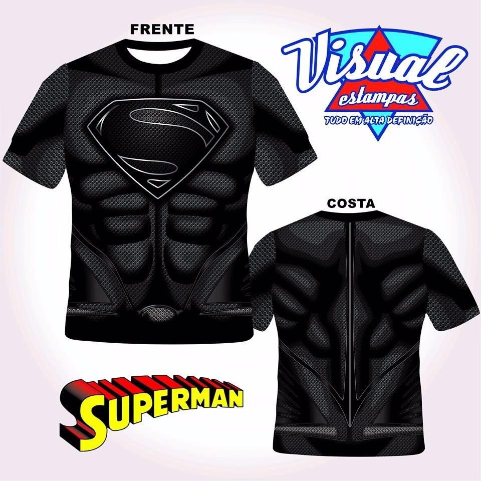 866b45d1a camiseta uniforme superman preto 3d. Carregando zoom.