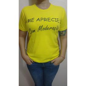 Camiseta Unissex Amarela Leia Descrição P/ Escolher Tamanhos