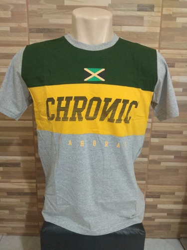camiseta unissex chronic reggae brasil