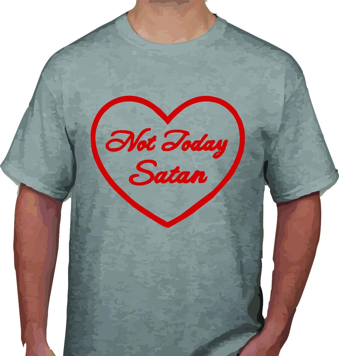 a8cd33ea camiseta unissex not today satan moda alternativa sabrina. Carregando zoom.
