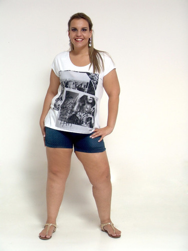 camiseta urbana - plus size