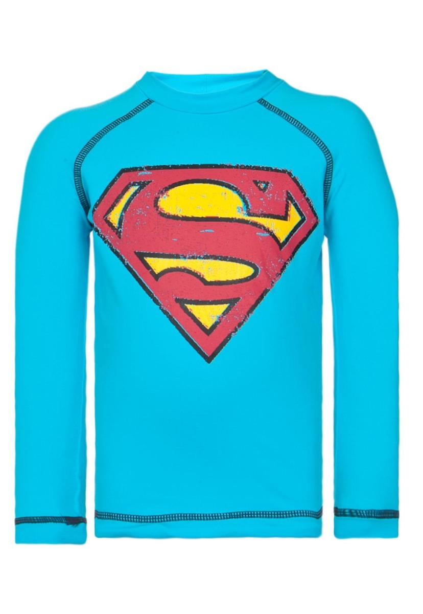Camiseta Uv Line Acqua Superman Azul - R  159 142668f151e39