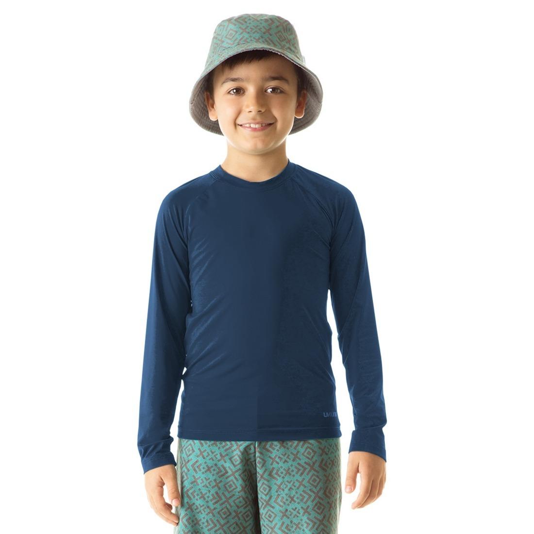 8899d3b799 camiseta uv pro ml infantil proteção solar uv line marinho. Carregando zoom.