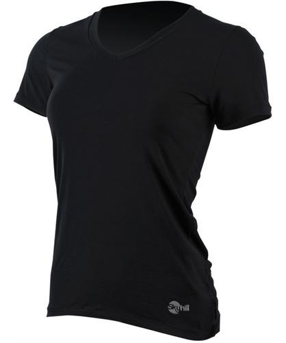 camiseta uv sports manga curta feminina skyhill - branca - p