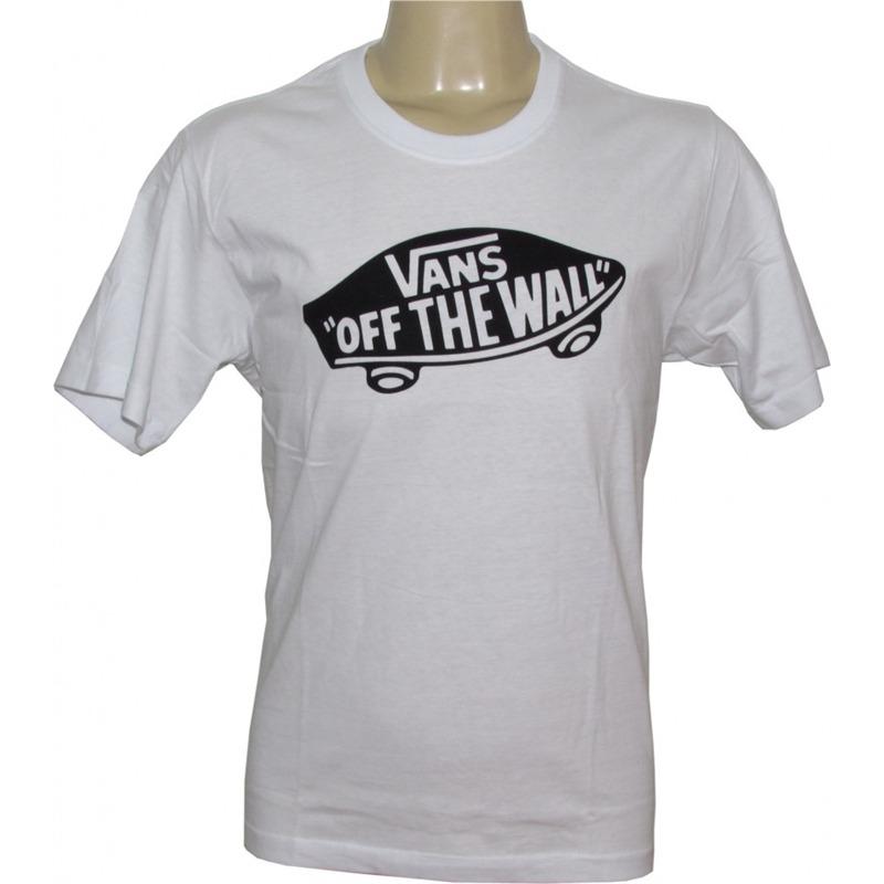 camiseta vans classic otw off the wall branca logo preto. Carregando zoom. 6de3d633a56