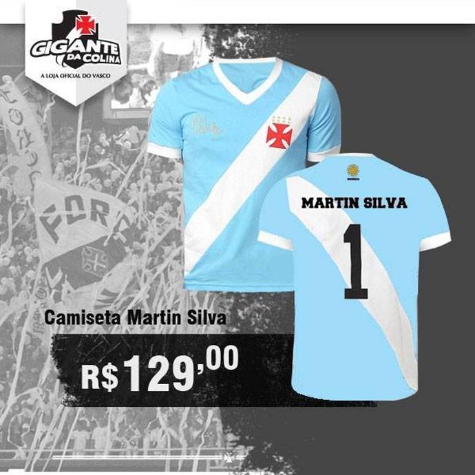 Camiseta Vasco Nº 1 Martin Silva - R  99 15b6ae1a6998d