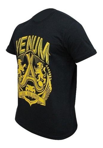 camiseta venum jose aldo lion black yellow