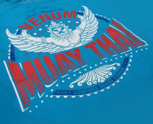 camiseta venum muay thai garuda azul