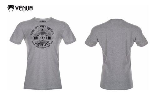 camiseta venum temple cinza academia mma muay thai crossfit