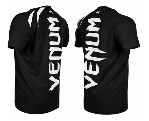 camiseta venum training black musculação mma jiu jitsu luta