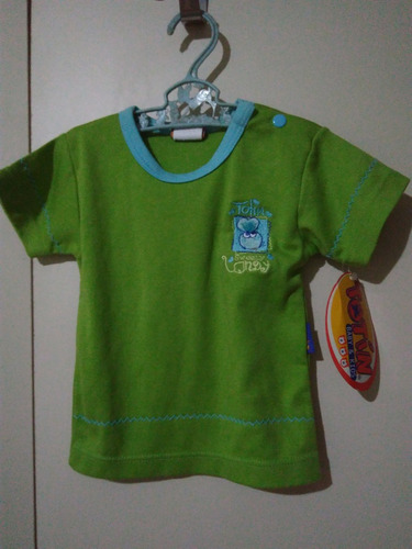 camiseta verde 3-6 meses