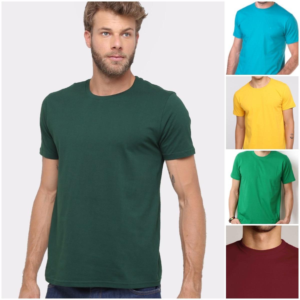 Camiseta Verde Escuro Musgo Lisa Básica Camisa 100% Algodão - R  19 ... 179adf7ef0e