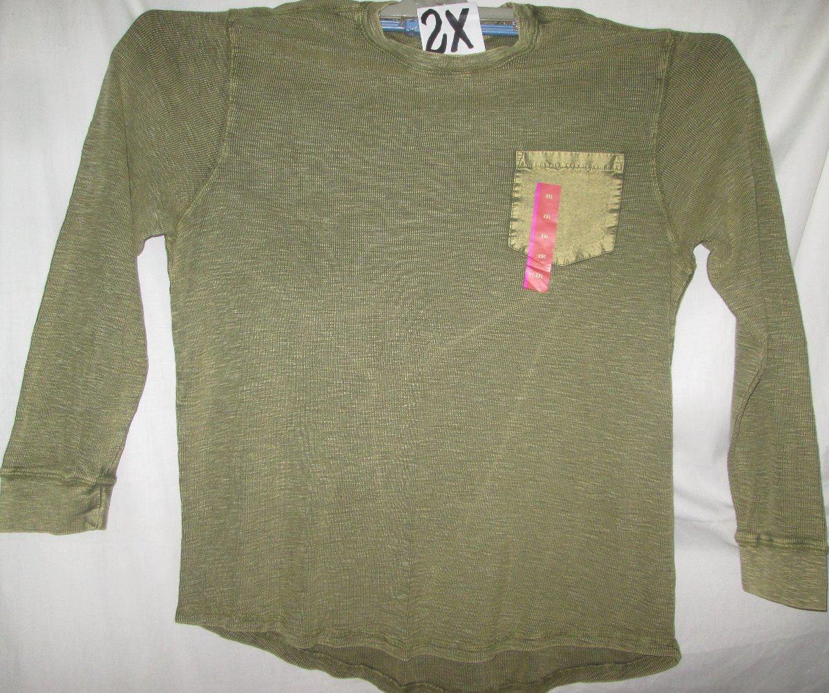 35474305e66 Camiseta Verde Manga Larga De Hombre Talla 2 X Mossimo -   400.00 en ...