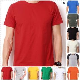 cfbac66566 Camiseta Lisa 100% Algodão Fio 30.1 Penteado - Camisetas Manga Curta ...