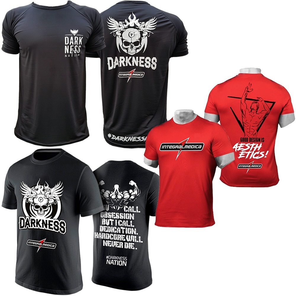 d91fc160fe Camiseta Vermelha + Camiseta Darkness + Nation - Integral - R  119 ...