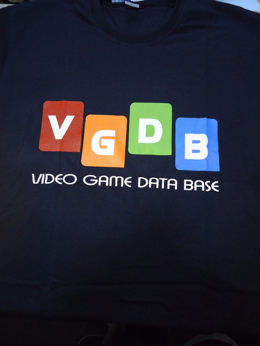 camiseta video game data base vgdb
