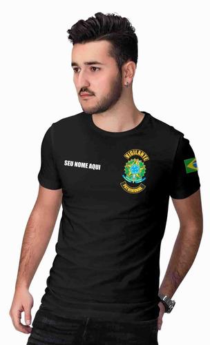 camiseta vigilante patrimonial com seu nome - a melhor