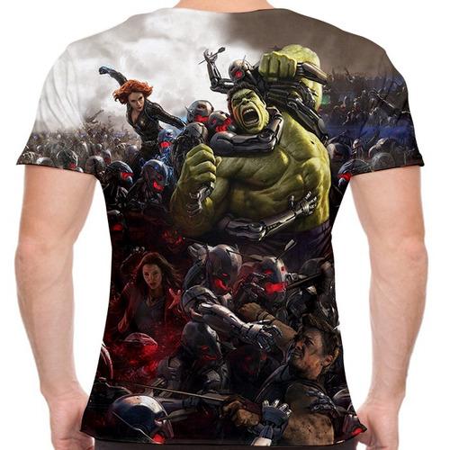 camiseta vingadores avengers 360 masculina