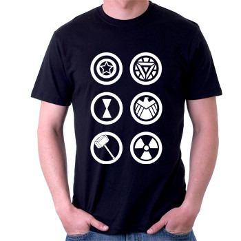 camiseta vingadores - filme - herói - 100% algodão
