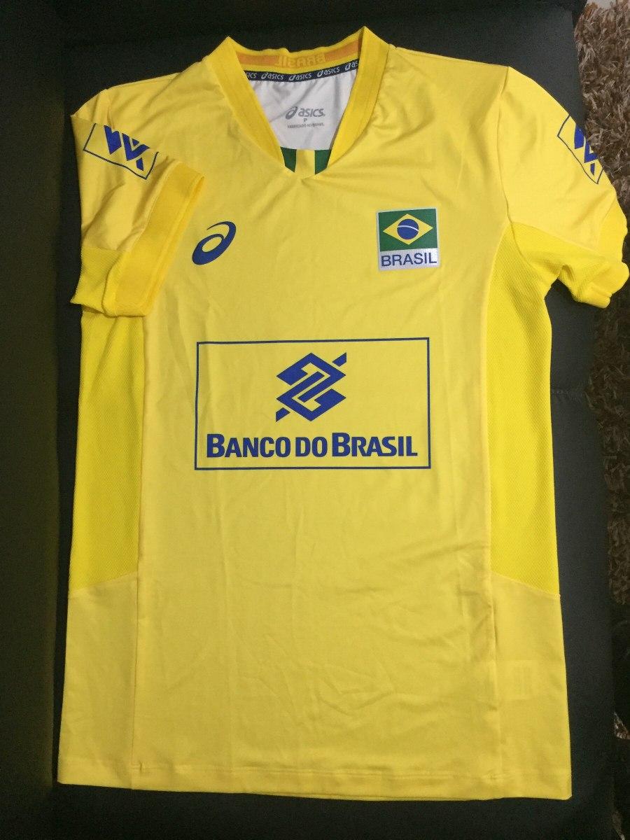 camiseta vôlei asics oficial jogo cbv - seleção masculina. Carregando zoom. fb35b28c3edb2