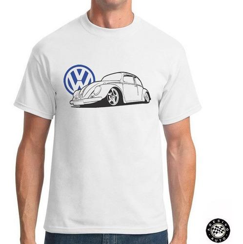 camiseta vw fusca automotivo + adesivo exclusivo