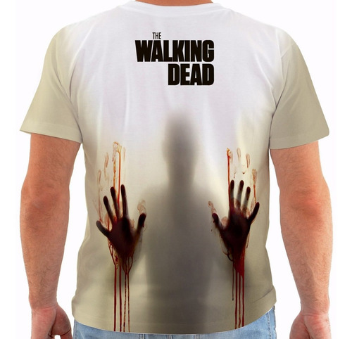 camiseta walking dead - rick grimes - zombies - series m0103