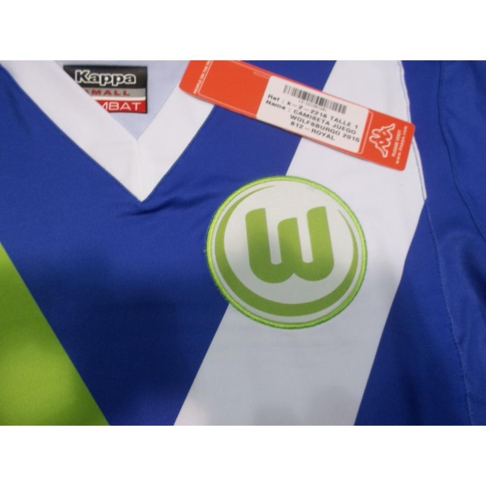 camiseta wolfsburgo kappa oficial azul. Cargando zoom. f4e93809035f7