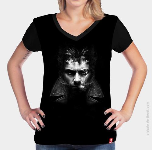 camiseta wolverine - x men - cidade do herói